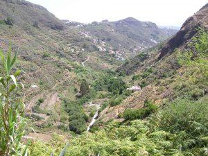 Valley of La Mina ravine, La Yedra and Utiaca