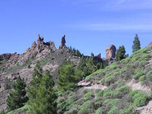Los cuatro roques: Roque Nublo, La Rana, El Fraile y el Gallo