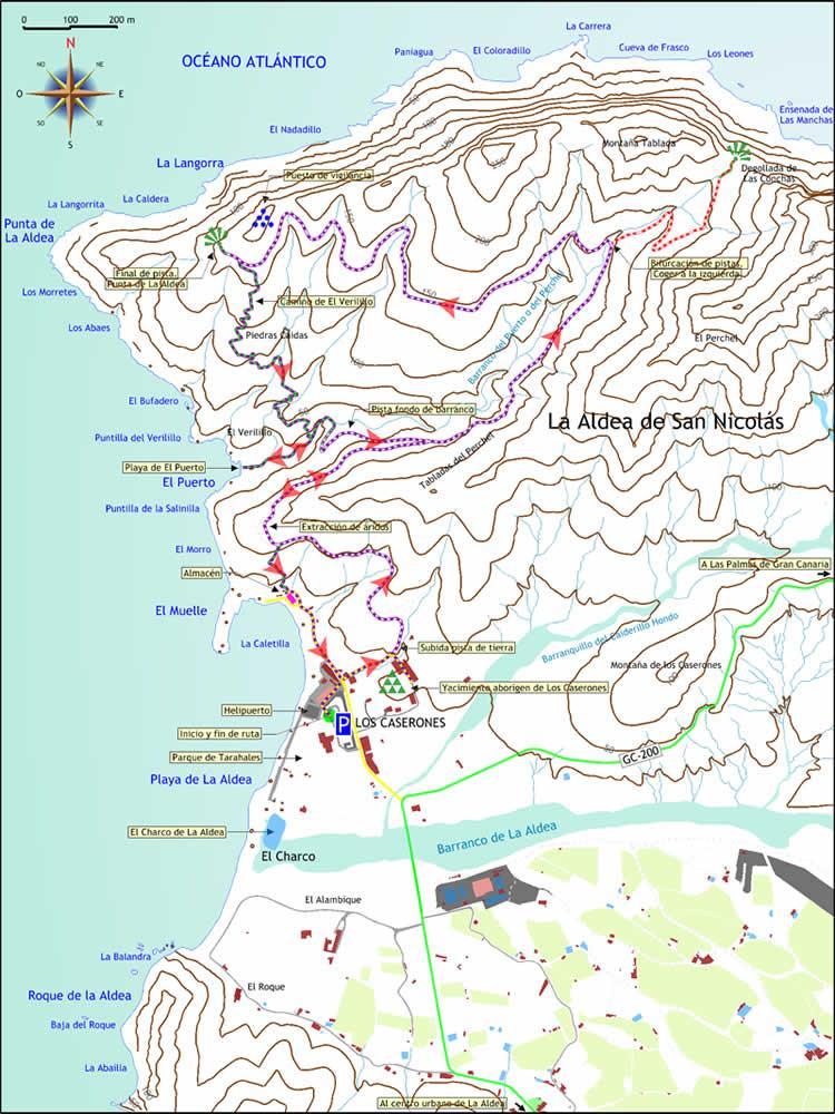 Mapa de la ruta Playa de El Puerto