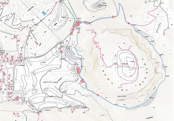 Mapa de la Caldera de Bandama