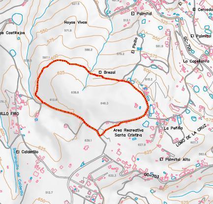 Mapa general de la ruta Santa Cristina