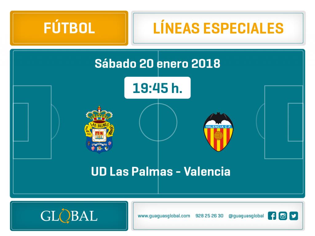 líneas especiales fútbol sábado 20 de enero