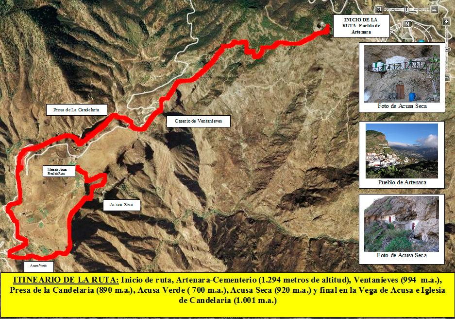 Itinerario Ruta Artenara-Acusa Verde