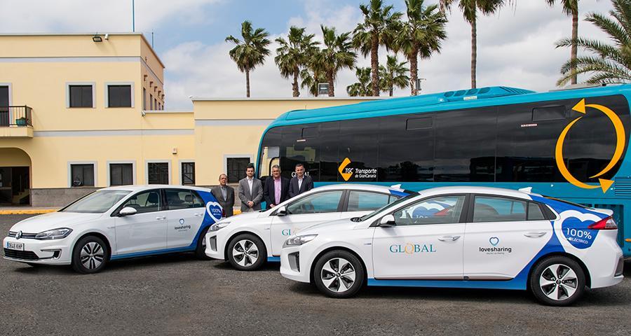 GLOBAL apuesta por el Lovesharing de Domingo Alonso Group con la adquisición de tres vehículos 100% eléctricos