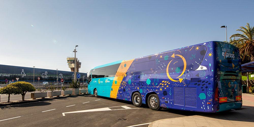 nuevas guaguas del servicio Airport Express