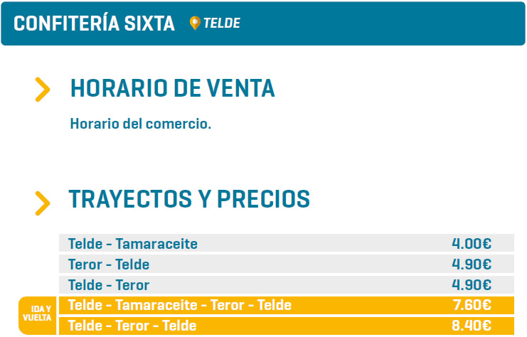 CONFITERÍA SIXTA - TELDE