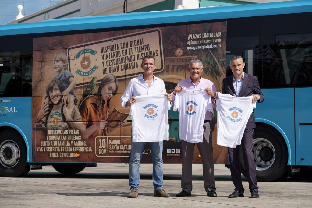 De izquierda a derecha: El director del departamento Comercial y Marketing, Óscar Zamora; el presidente del Consejo de Administración de GLOBAL, Manuel Suárez;y el director general, Víctor Quintana.