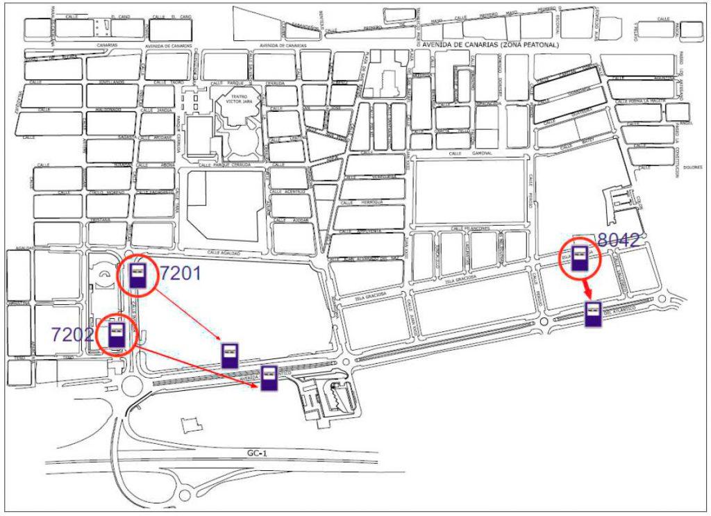 Traslado de paradas a partir del lunes 22 octubre