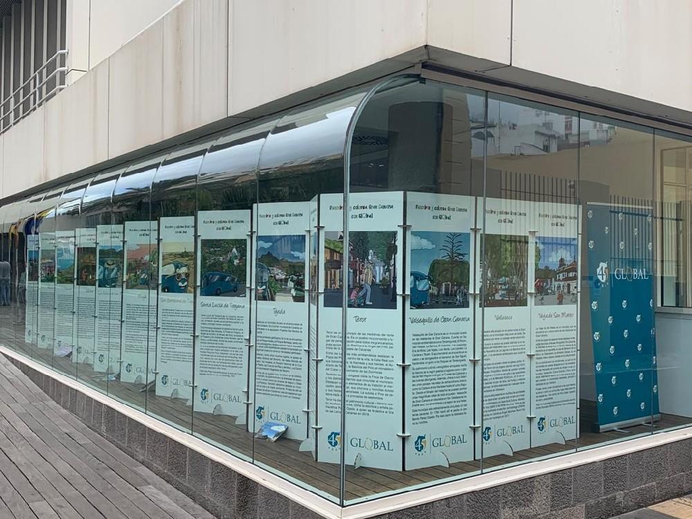 """Global presentó la exposición del libro """"Descubre y Colorea Gran Canaria con GLOBAL"""""""
