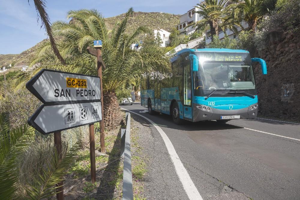 GLOBAL conecta Gáldar con el barrio de Lomo de San Pedro en Agaete
