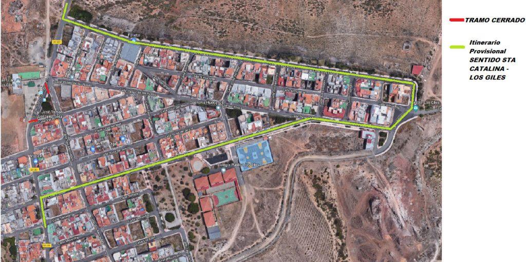 Itinerario Provisional: Sentido Santa Catalina - Los Giles