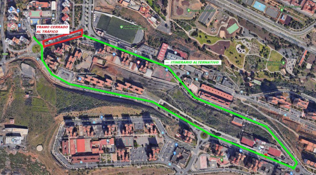 Cierre al tráfico: Calle Manuel Alemán Álamo. (1ª Fase de Jinámar). Tramo 1
