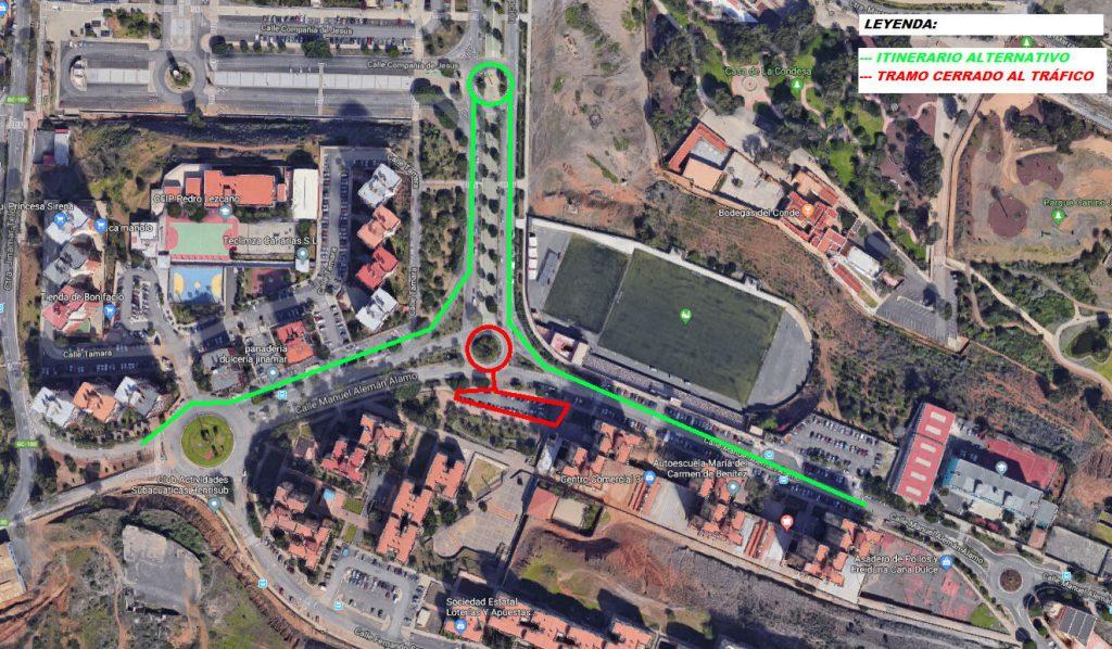 Cierre al tráfico: Calle Manuel Alemán Álamo. (1ª Fase de Jinámar). Tramo 2