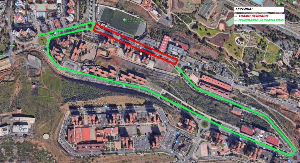 Cierre al tráfico: Calle Manuel Alemán Álamo. (1ª Fase de Jinámar). Tramos 3,4 y 5