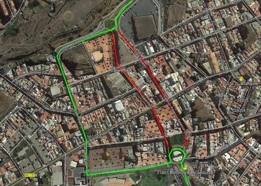 Cierre al tráfico: Calles Perú, Ecuador y Brasil. Telde