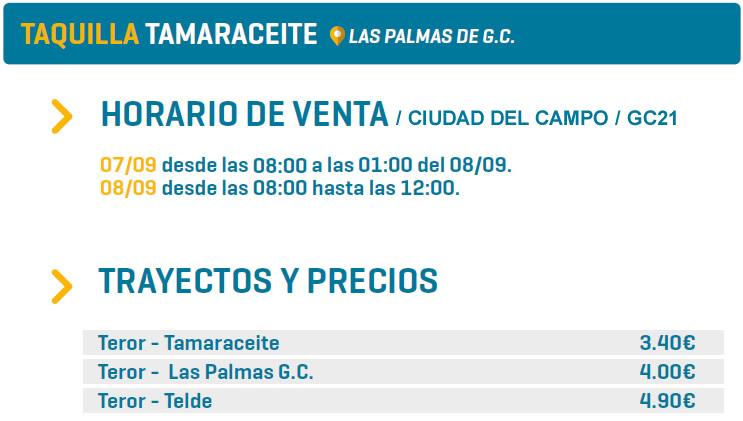 TAQUILLA TAMARACEITE - LAS PALMAS DE G.C.