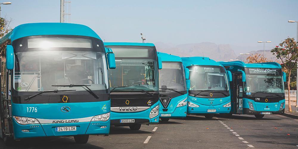 GLOBAL suma 54 nuevas guaguas a la flota del transporte público en Gran Canaria