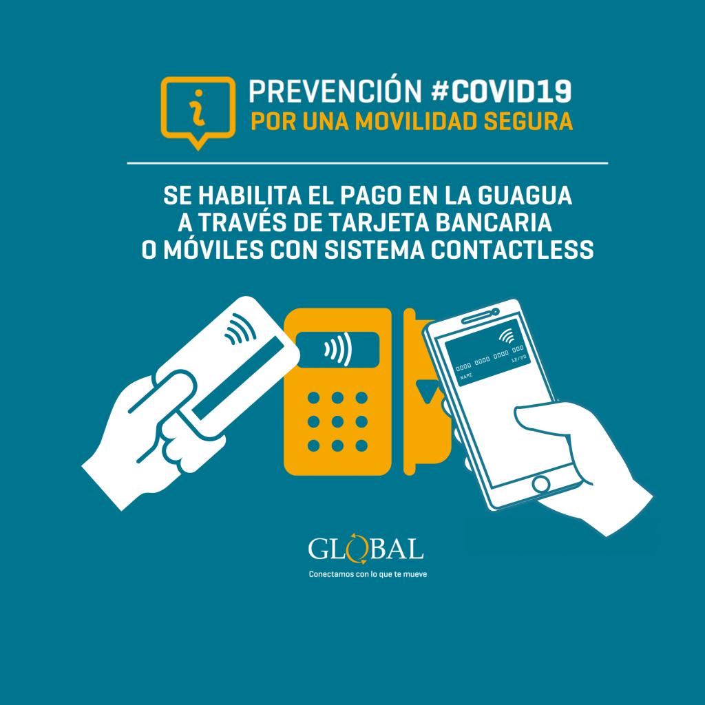 Se habilita el pago en la guagua a través de tarjeta bancaria o móviles con sistema Contactless