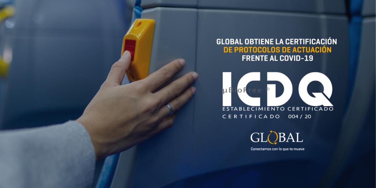 Global obtiene certificación frente a la Covid-19