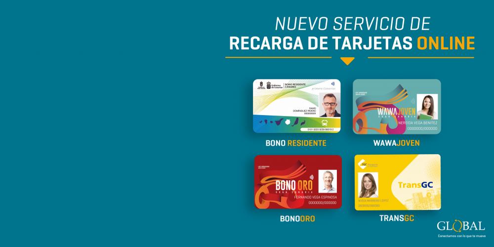 Nuevo servicio de recarga de tarjetas online
